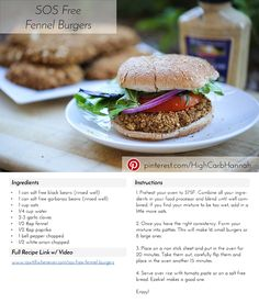 SOS Free Fennel Burger