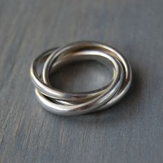 Authentic Tiffany & Co Sterling Trinity Interlocking Ring - Rolling Band by MintAndMade on Etsy
