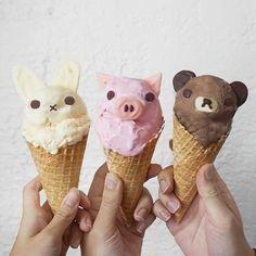 Animal ice cream by Anna Chan (@annachaannn)