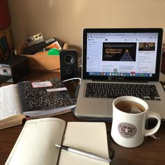 """Friday morning sermon work at the home office!With a cup of oolong so I am ready to write! Working on Luke 13:1-9 in our series """"Scripture Fulfilled- The Importance of Repentance"""".#sermons #writing #biblestudies #journaling #biblejournaling #worship #tea #oolongtea #fountainpen #homeoffice by revdougs"""