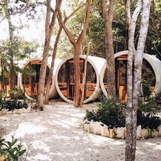 These adorable sleeping pods in Tulum are, in a nutshell, what glamping dreams are made of—who agrees? Click the link in our bio for 28 of the coolest glamping sites around the world. Photo by @sashaisagirl #traveldeeper
