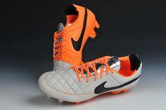 Your Unique Nike Tiempo Legend V FG White Black Orange $63.99