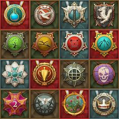Medals for collectible card game Berserk: Cataclysm on Behance