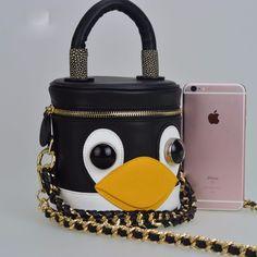 Bolsa divertida pinguim
