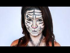 White Tiger Makeup Tutorial - ShelingBeauty - YouTube