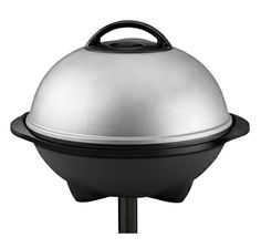 The 240 Sq. In. Indoor/Outdoor Grill GGR50B: Enjoy easy patio grilling with this jumbo silver grill from George Foreman