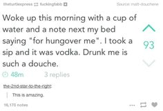 Drunk you feels absolutely no remorse for pranking sober you. | 18 Signs Drunk You Is Your Own Worst Enemy