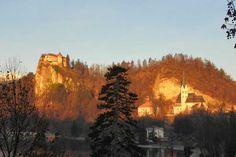 #Bled - Die Burg in der Abenstimmung  #Urlaub #Slowenien