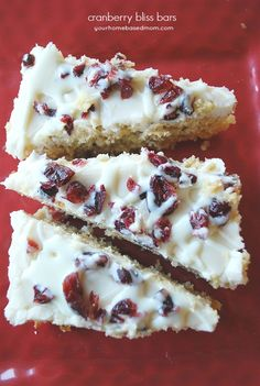 Cranberry Bliss Bars - just like Starbucks!