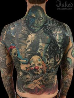 What a scary tattoo... Literally