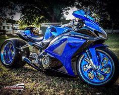 FAT Tire Suzuki GSXR Motorcycle, single side swingarm #pashnit www.PashnitMoto.com