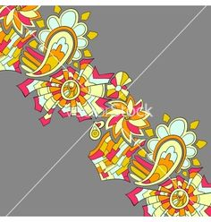 Vintage like floral card vector by dedron on VectorStock®