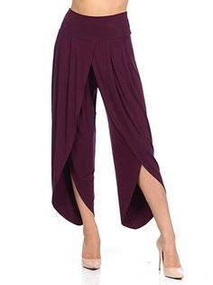 New Irregular Wide Leg Pants Women Fashion Cross Split Ladies Solid Casual Comfortable Loose Trousers Purple Wide Leg Palazzo Pants, Wide Leg Pants, High Fashion Home, Autumn Fashion Casual, Long Pants, Pants For Women, Vintage Fashion, Plus Size, Womens Fashion