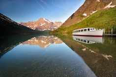 Morning on Lake Josephine, Glacier National Park (pinned by haw-creek.com)