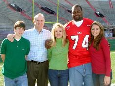 Michael Oher, and his family. I love The Blind Side, it brings me to tears each time i watch it. What an incredible movie, love it:)