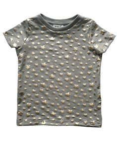 Beau LOves Grey Marl T-Shirt with Gold Stars