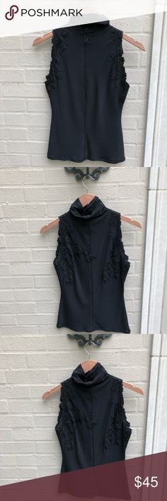 """⭐️🆕[Ermanno Scervino] Fitted Black Lace Tank Top •New •Approx length 22"""" •Size 42  🛍Bundle - save 💵 - Get a possible discount - All your Rox4You 🛍 will be mailed together - 1️⃣📦charge - (ONLY in """"bundle"""")  Check Out the rest of my ⭐️Rox4Less⭐️ Closet  I work for 1️⃣ client ♥️ selling her fabulous retired designer wardrobe to make room for 🆕 Most items either 🆕 or worn once ♥️ Ermanno Scervino Tops"""