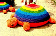 Vintage+70s+TURTLE+Floor+Pillow++PDF+Crochet+by+KinsieWoolShop,+$3.20