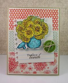 """I created this card using """"Zinnias"""" by Flourishes."""