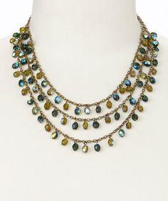 Look at this #zulilyfind! Gray & Blue Triple Layer Bead Necklace by Pavcus Designs #zulilyfinds
