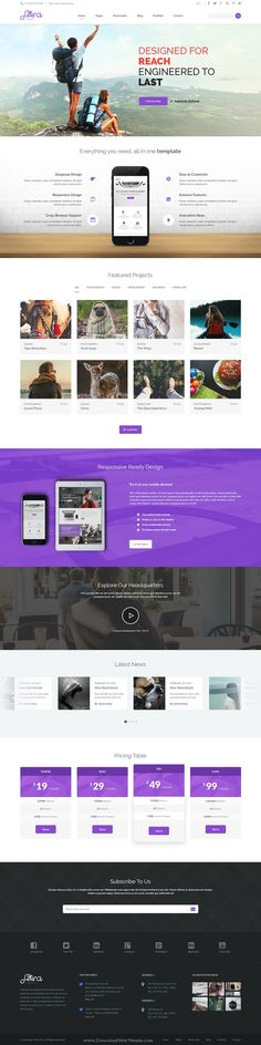 Akira is a creative and eCommerce PSD #template suitable for agencies, #freelancers, photographers and shops #website. Download Now!