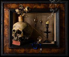 Las vanidades de Kevin Best Still Life Vanitas Framed Danse Macabre, Memento Mori, Vanitas Paintings, Crane, Vanitas Vanitatum, Don't Fear The Reaper, Dutch Golden Age, Still Life Photos, Skull And Bones