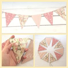Paris decor wooden bunting - pinned by pin4etsy.com