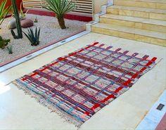 boucherouite rug rag by HandiraBlankets on Etsy