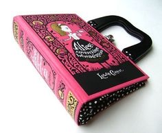 Alice in Wonderland book handbag