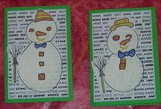 Carte Vœux Bonhomme de neige