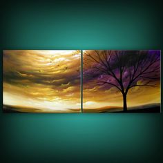art acrylic abstract painting original wall art wall hanging landscape... ($325) ❤ liked on Polyvore