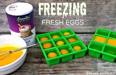 During the summer months when egg production is at a high, we often find ourselves with excess eggs. In order to ensure we have enough eggs for holiday baking and other recipes through the winter when production drops, I have started freezing eggs to save them for the lean winter months so we don't