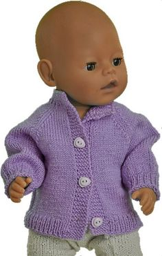 Knitting instructions doll clothes for Strickanleitung puppenkleidung kostenlos Knitting instructions doll clothes for free - Baby Born Clothes, Preemie Clothes, Knitting Dolls Clothes, Girl Doll Clothes, Doll Clothes Patterns, Crochet Baby Boy Hat, Baby Boy Hats, Crochet Baby Clothes, Newborn Crochet
