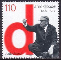 Arnold Bode auf Briefmarke von 2000