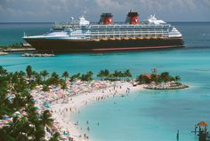 The Disney Wonder at Castaway Cay. We had a beautiful day there 1/13/13.
