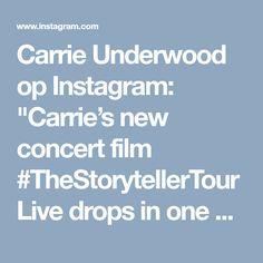 """Carrie Underwood op Instagram: """"Carrie's new concert film #TheStorytellerTourLive drops in one week! 😱 #Nov17 #StorytellerTourMemories #CarrieLive  #carrieunderwood…"""" • Instagram"""