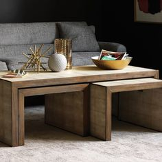 DwellStudio Avedon Nesting Coffee Tables #zincdoor