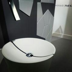 MyBath Penta washbasin presented during ISH Frankfurt Messe 2015  www.mybath.pl  #mybath #coriandesign #corian #bathroomdesign #bathroom