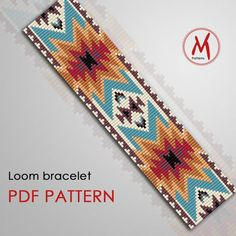 Loom Bracelet Patterns, Bead Loom Bracelets, Bead Loom Patterns, Weaving Patterns, Crochet Patterns, Bead Loom Designs, Beadwork Designs, Native Beading Patterns, Native American Beadwork