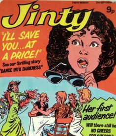 vintage jinty comic cover 1970s