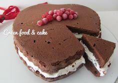 Cuore al cacao con crema di ricotta | Green food & cake