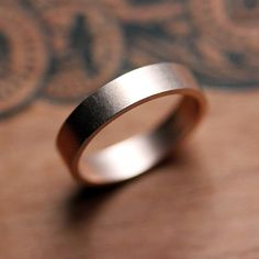 Rose gold wedding band men's or women's wedding by metalicious