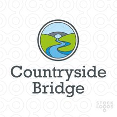 Logo shows a bridge over a river in a landscape with hills.As it has warm, inviting look & feel, logo can be used for a farm in a countryside, a small dental clinic, or a quite holiday location. But can be also recommended to a real estate business operating in the countryside or even a consulting or counselling firm. Another idea would be to use it for a company providing mediation services and resolving issues between two parties, so someone who can bridge a gap.