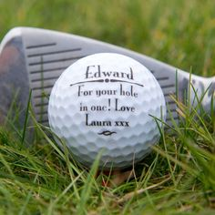 A beautiful keepsake, the Personalise Golf Ball is a gift sure to score a hole in one with the lucky recipient! Stocking Fillers For Men, Present Finder, Gifts Under 10, Hole In One, Golf Gifts, Golf Ball, Santa Gifts, Secret Santa, January
