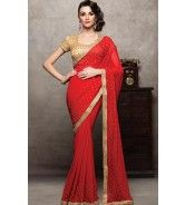 Fancy Silk Saree with Ready made Blouse - PWS7511