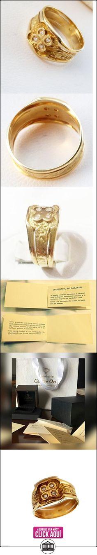 Anillo hombre oro 18kt 750y diamantes 0,02ct-18K gold Ring For Men with Diamond  ✿ Joyas para hombres especiales - lujo ✿ ▬► Ver oferta: http://comprar.io/goto/B01N5GLD9A