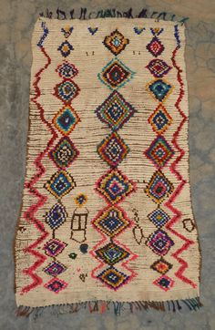 azilal rug (boucherouite posh wool version) from beldirugs.com