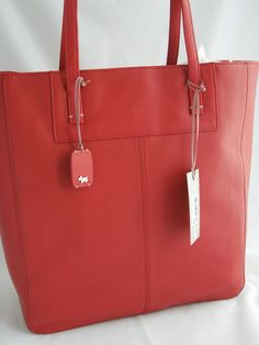 Radley Aldgate Large 3 Compartment Red Leather Tote-Work Bag BNWT ...