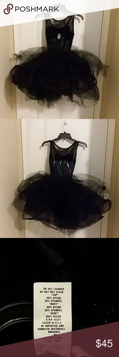 Black Ballet/Dance Costume Black ballet costume, rhinestone in front. Lined. Worn once for recital. Other