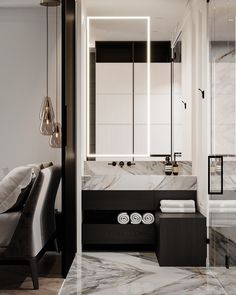 Apartment in Copenhagen on Behance Luxury Apartments, Luxury Homes, Copenhagen Apartment, Villa, Contemporary Interior, Luxury Living, Luxury Furniture, Double Vanity, Photoshop